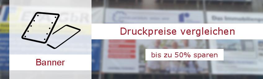 Banner drucken / Spannbanner: Durch Druckerei-Vergleich günstig Banner drucken lassen und bis zu 50% sparen.