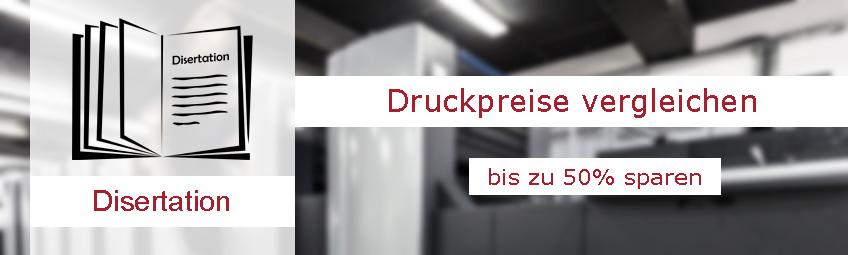 Disertation drucken lassen: Durch Druckerei-Vergleich beim Druck der Disertation bis zu 50% sparen.