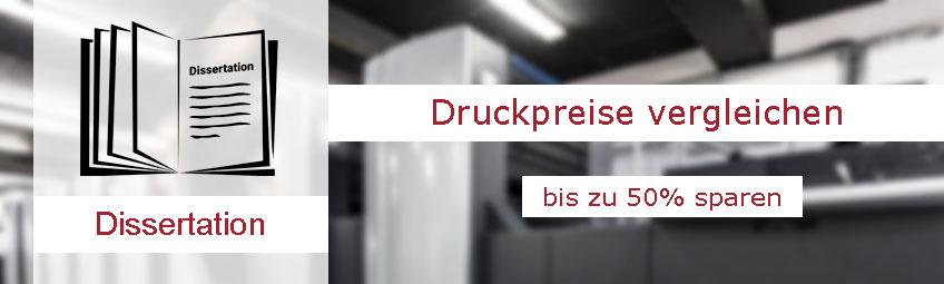 Dissertation drucken - Druckpreise vergleichen und sparen