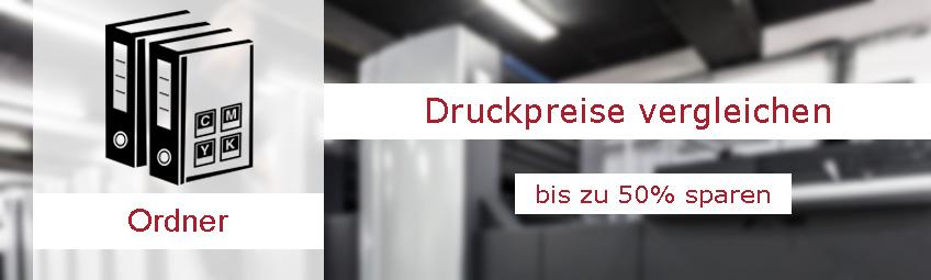 Ordner bedrucken: Durch Druckerei-Vergleich günstig Ordner Bedrucken lassen.