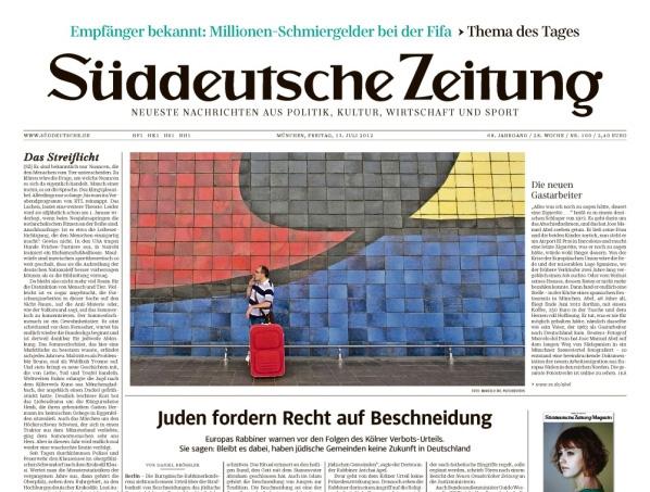 Süddeutsche Zeitung (SZ) in neuem Layout